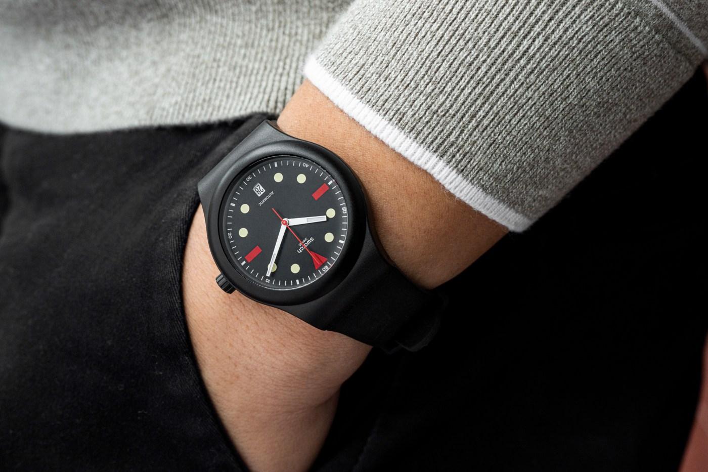 Swatch Sistem51 Hodinkee Generation 1986 wristshot