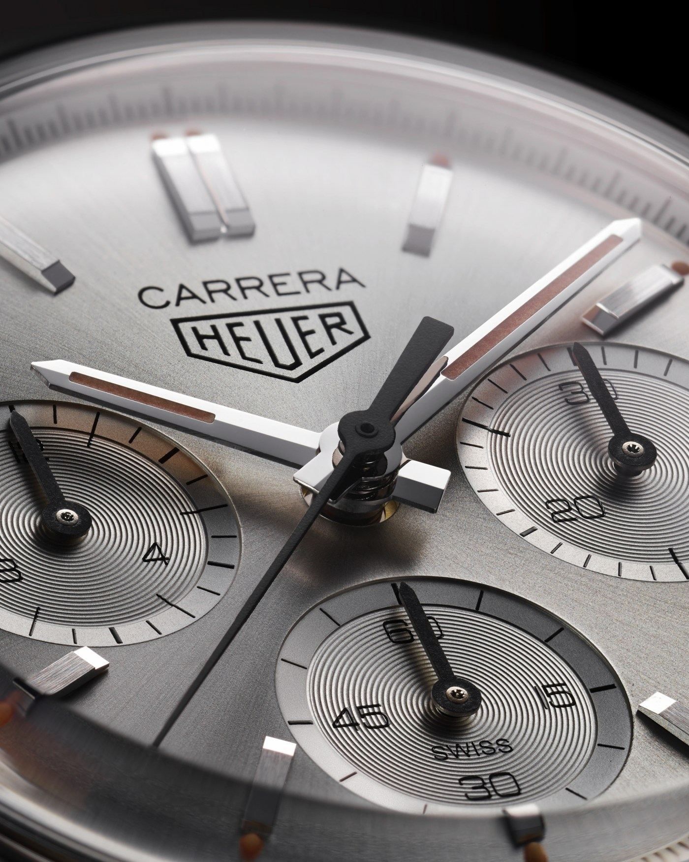 2020 TAG Heuer Carrera Silver Limited Edition close-up