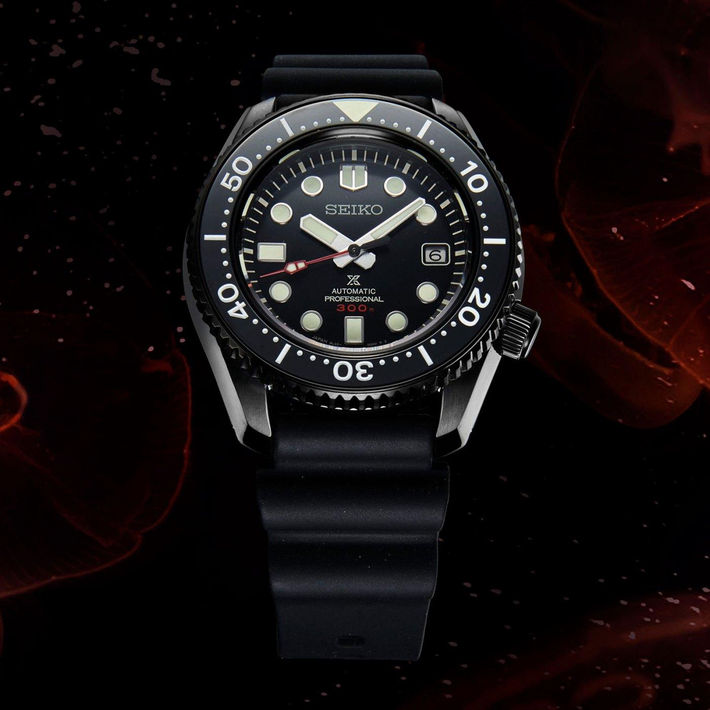 Seiko Prospex Marinemaster Black Series SLA035 front