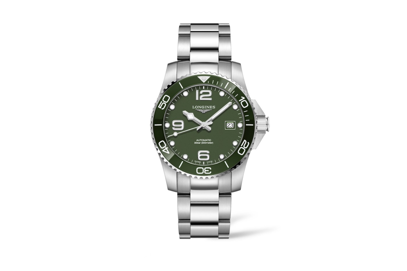 Longines Khaki Green HydroConquest