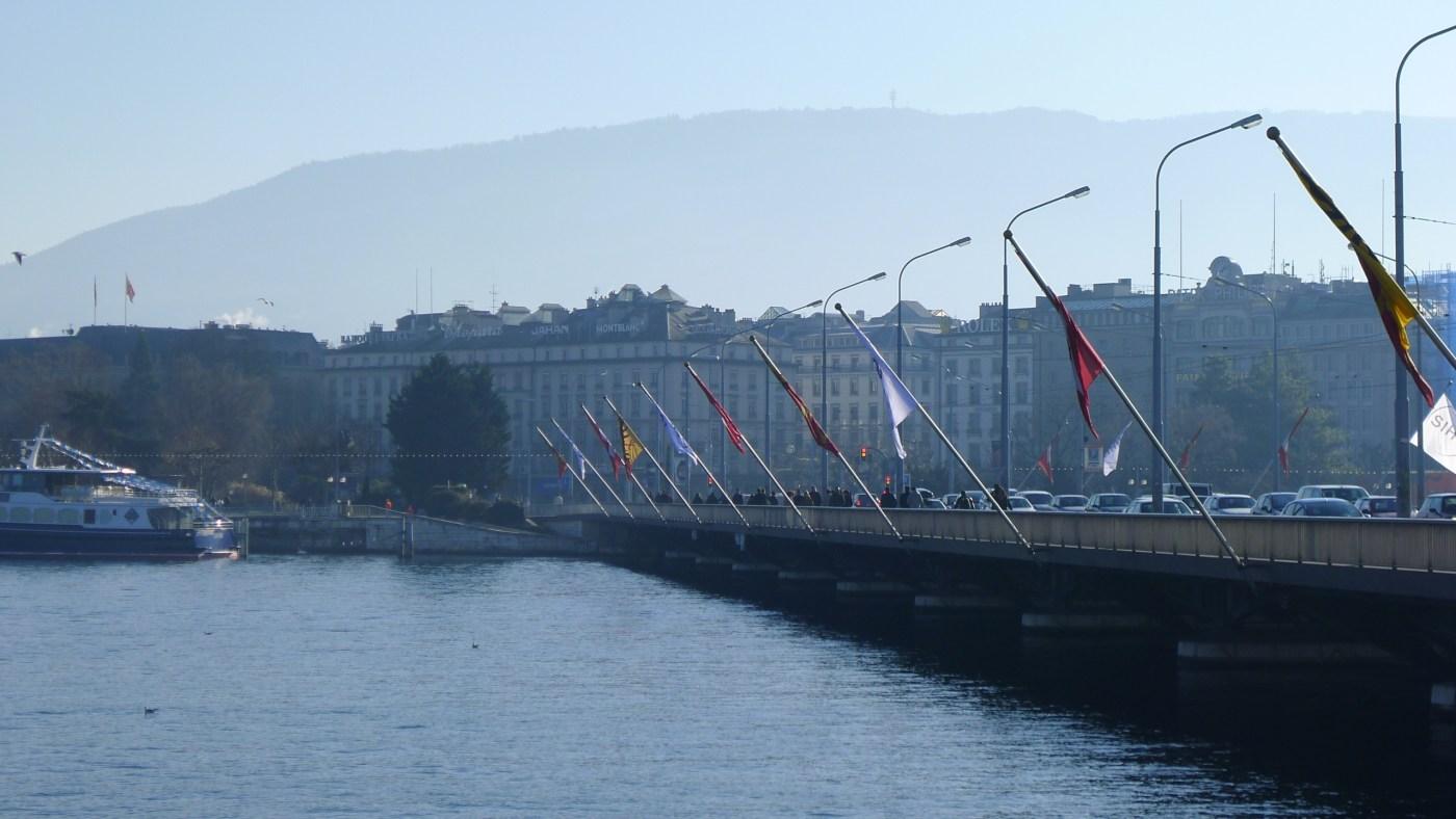 Mont Blanc Bridge in Geneva 2011