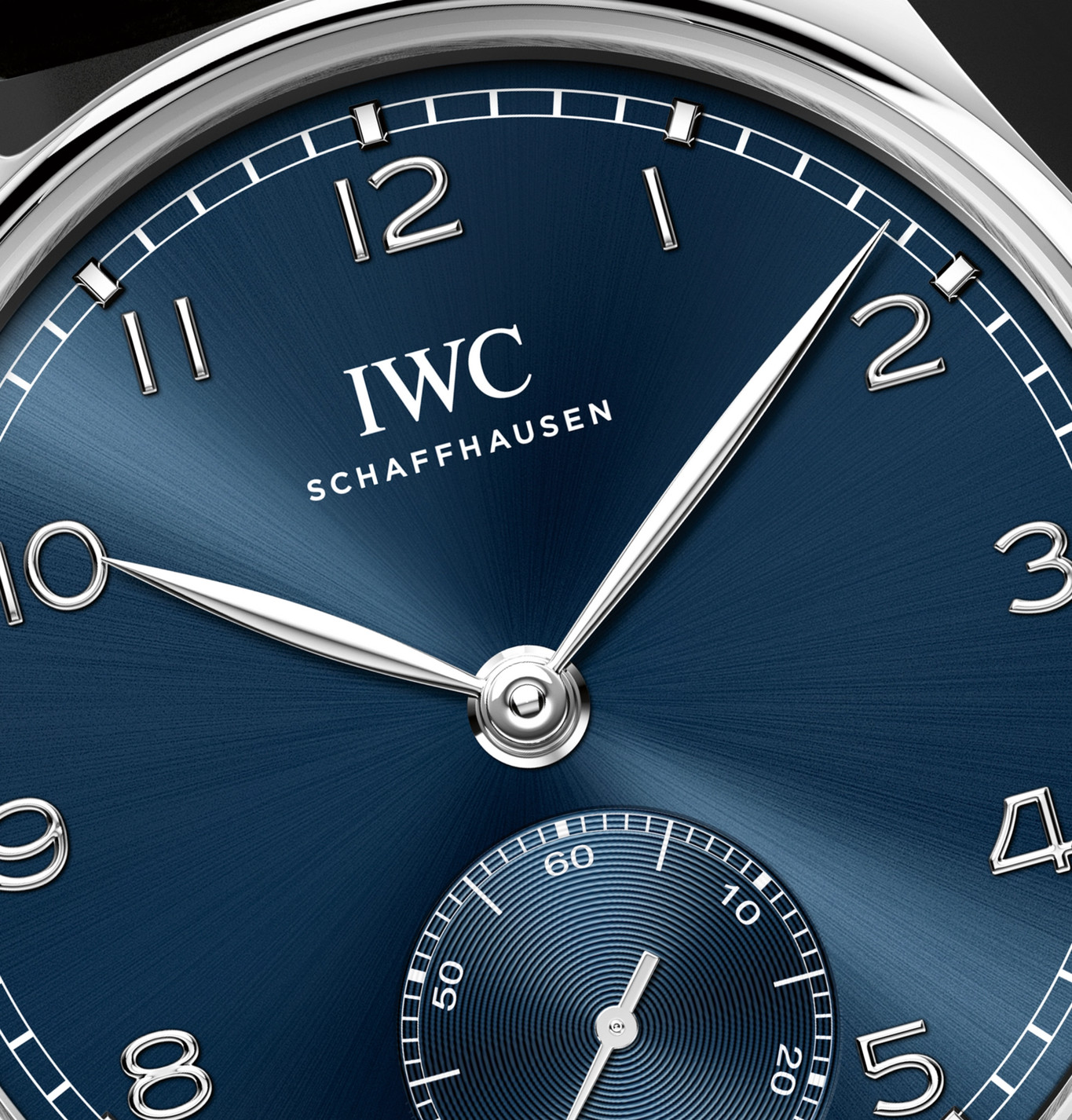 2020 IWC Portugieser Automatic 40 dial close-up