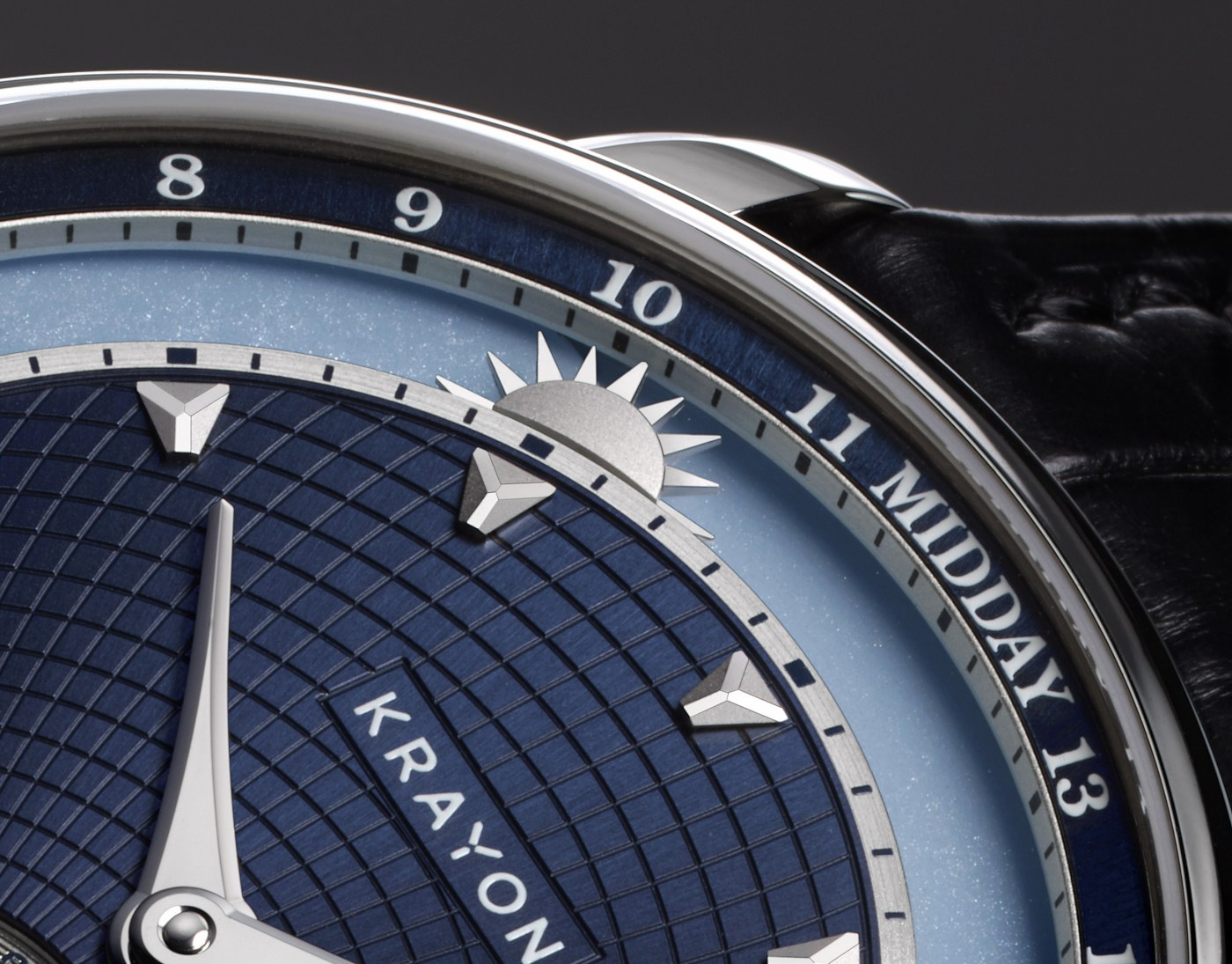 Krayon Anywhere blue dial close up