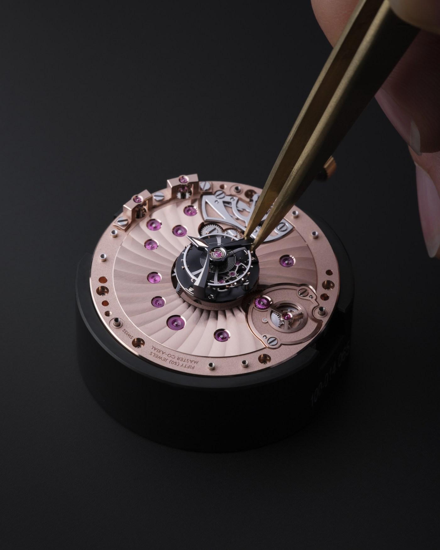 Omega De Ville Tourbillon Master Chronometer watchmaking assembly