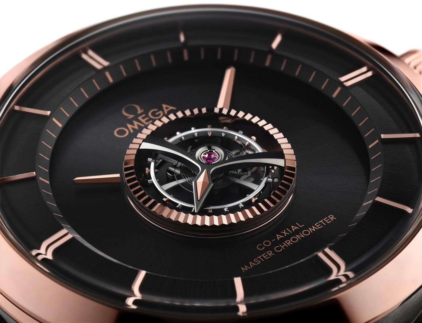 Omega De Ville Tourbillon Master Chronometer Numbered Edition dial close-up
