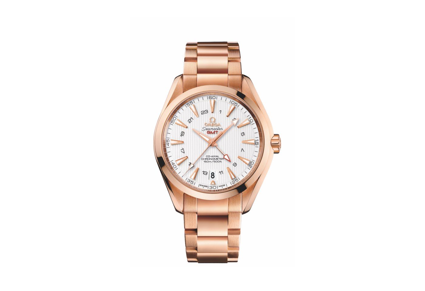 Omega Seamaster Aqua Terra 150M Co-Axial GMT in red gold