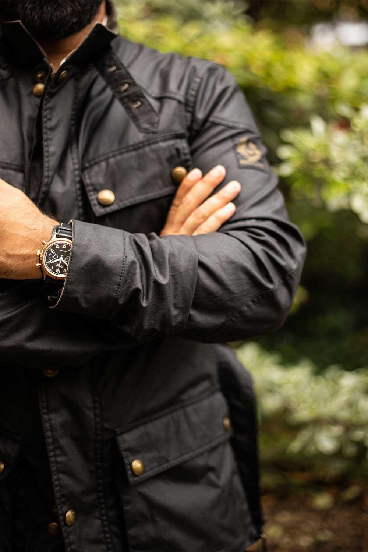 Belstaff Trialmaster leather jacket for The Rake
