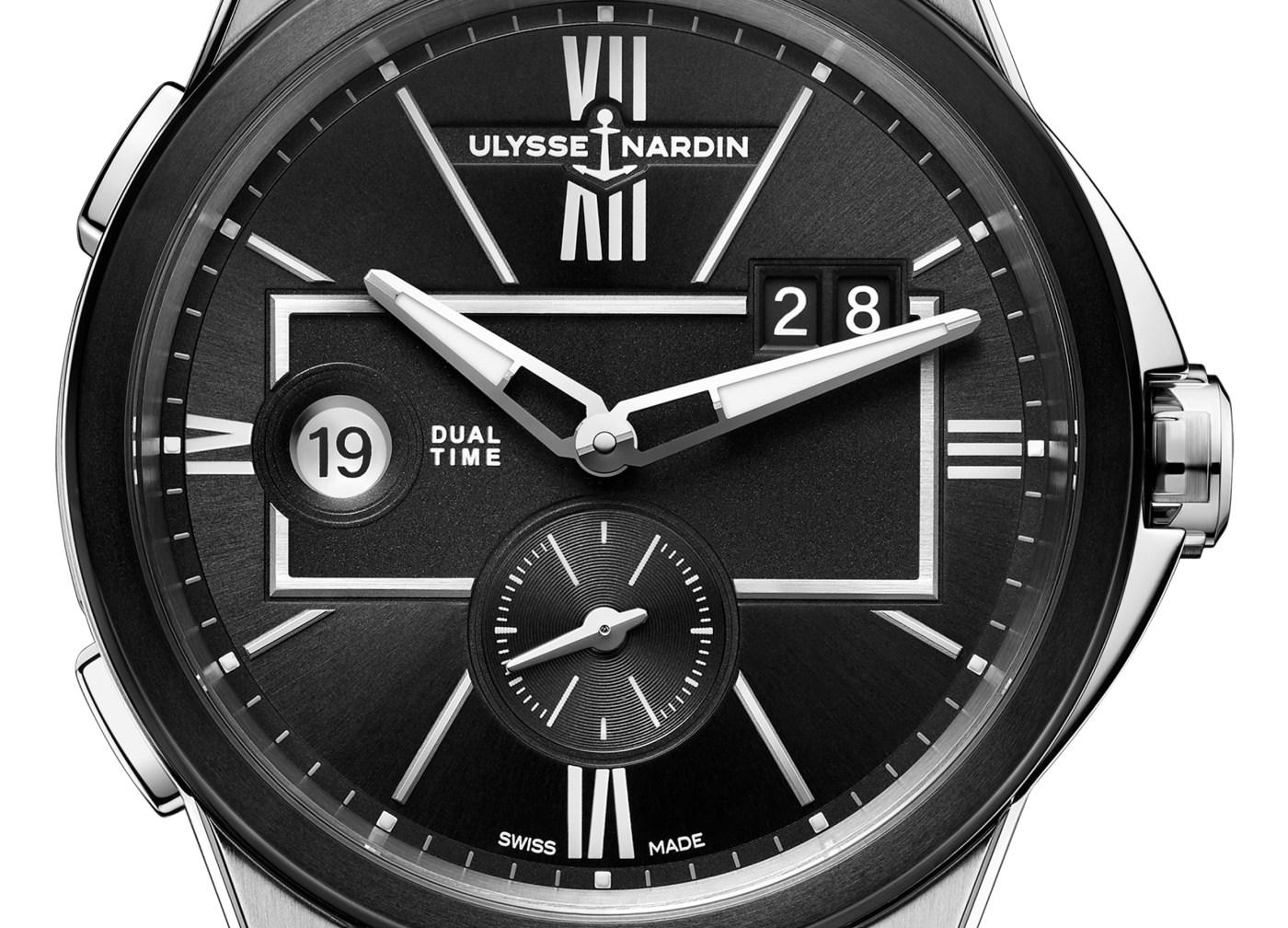 2020 Ulysse Nardin Dual Time dial close-up