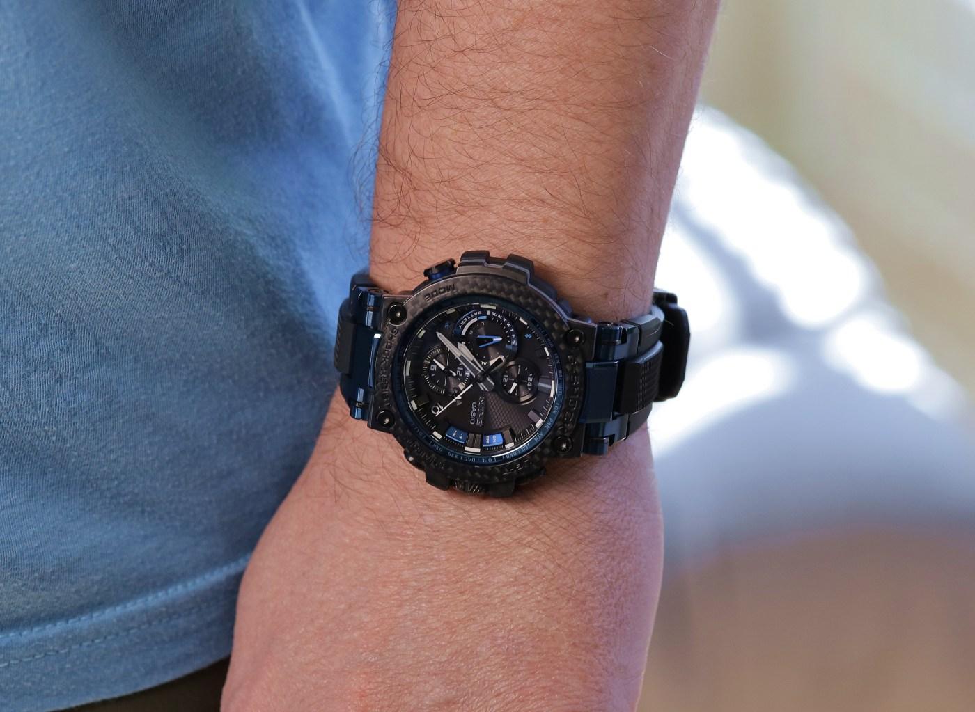 G-Shock MT-G Carbon Fiber MTGB1000XB-1A wristshot