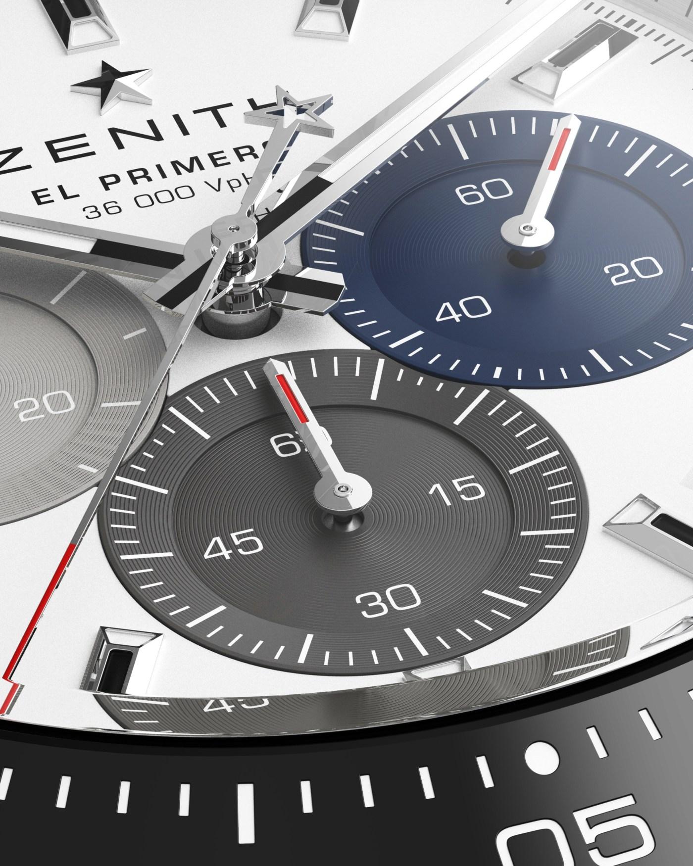 2021 Zenith Chronomaster Sport dial close-up