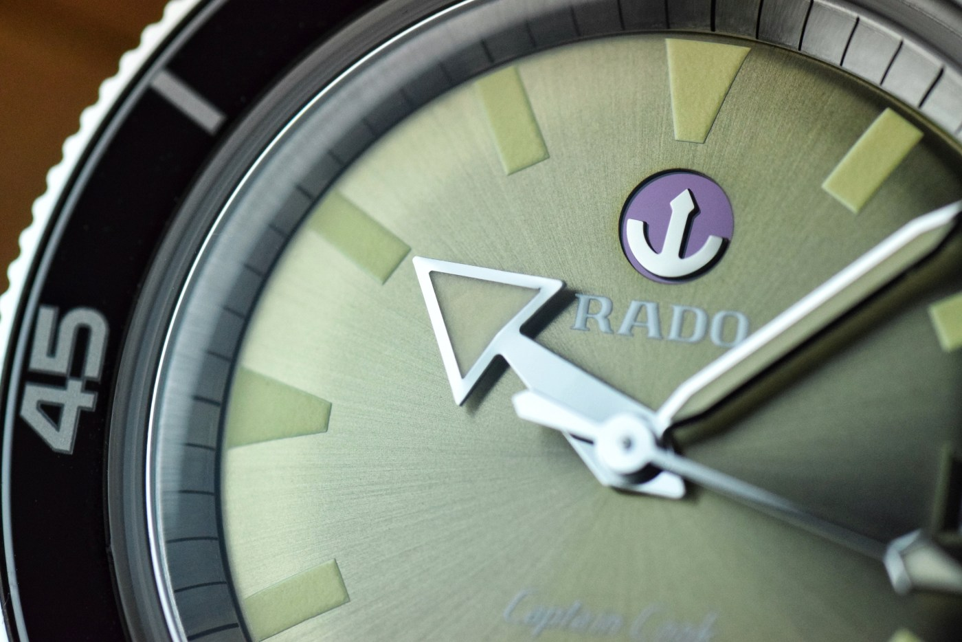 Rado Captain Cook Automatic dial close-up