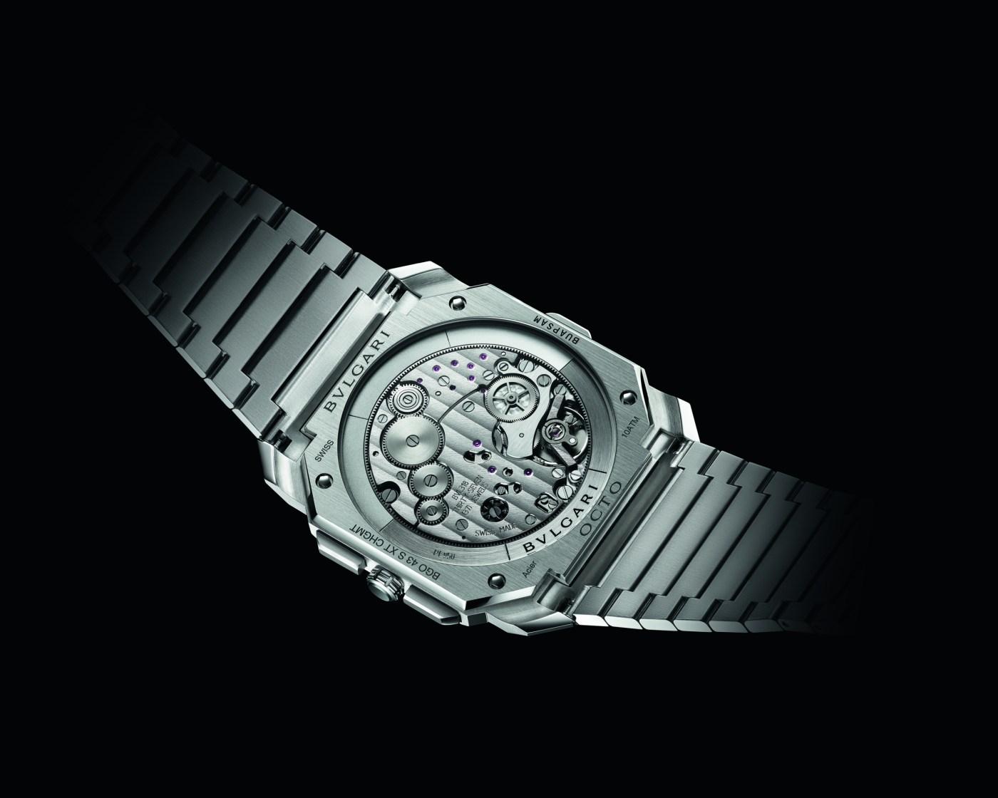 Bulgari Octo Finissimo S Chronograph GMT Steel caseback