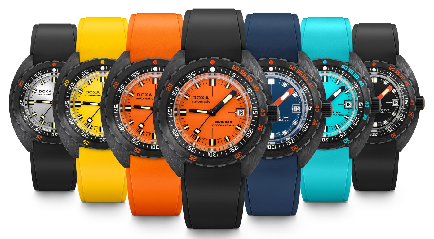 Doxa 300 Sub Carbon collection 2021