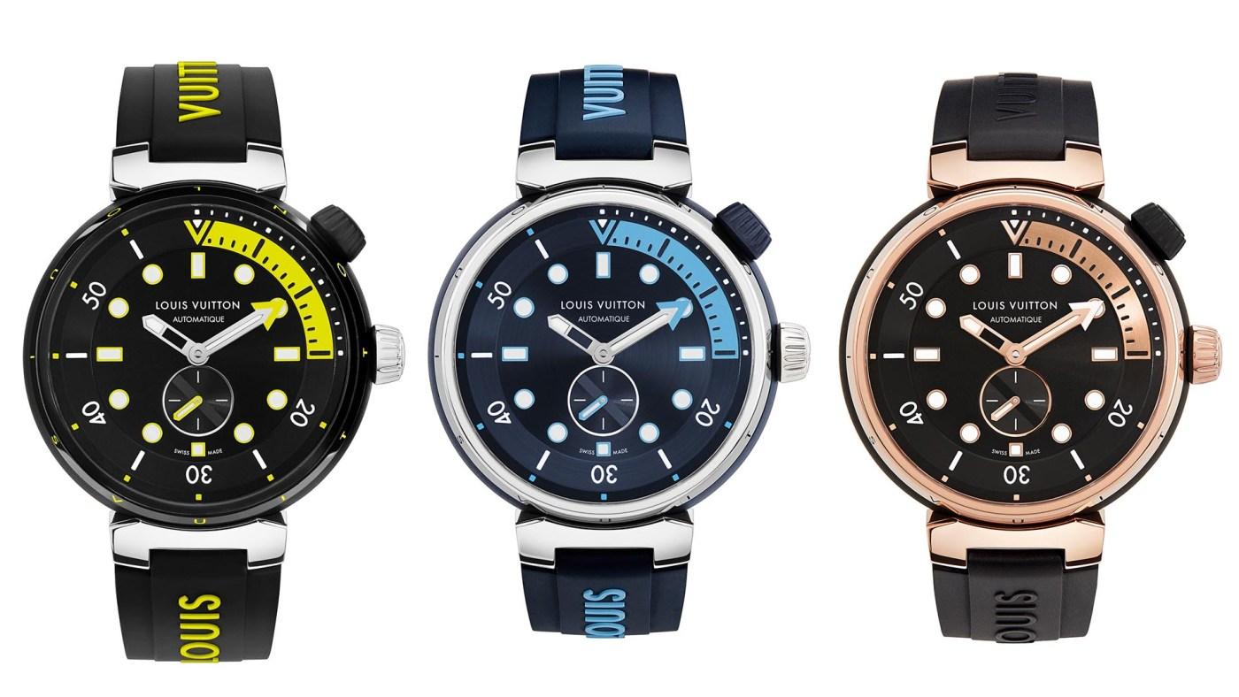 2021 Louis Vuitton Tambour Street Diver collection
