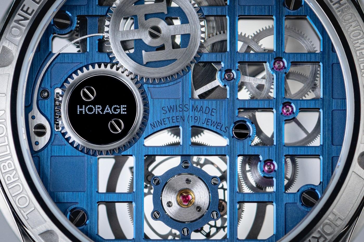 Horage Tourbillon 1 mainplate closeup