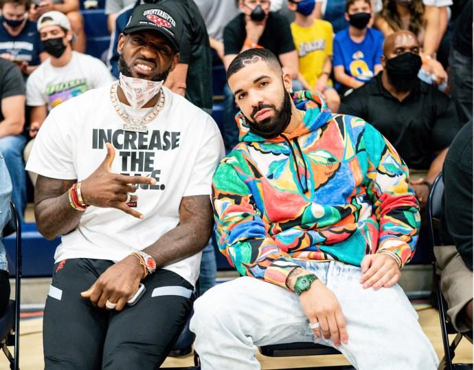 LeBron and Drake wearing Rolex Oyster Perpetual and Patek Nautilus