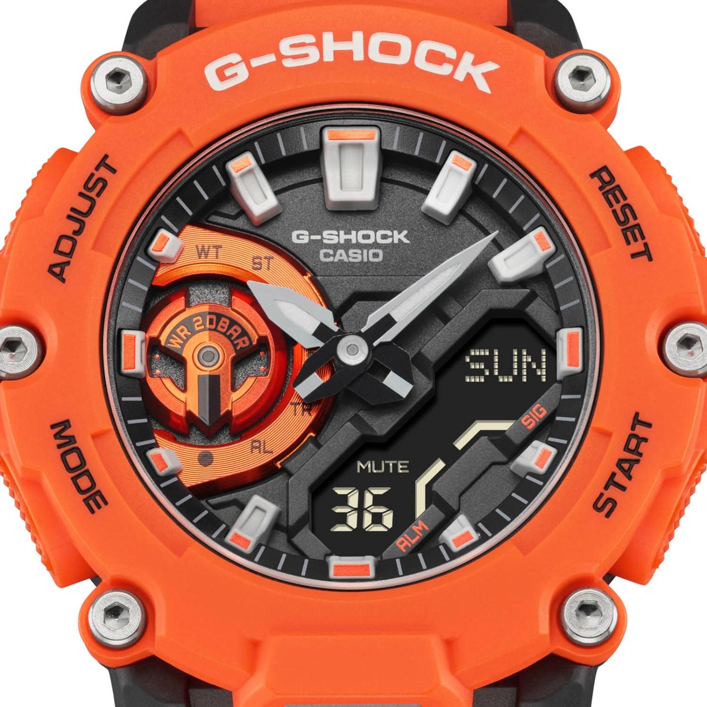 G-Shock GA-2200M-4A dial close-up