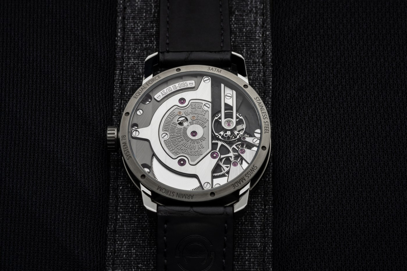 Armin Strom Gravity Equal Force Ultimate Sapphire caseback