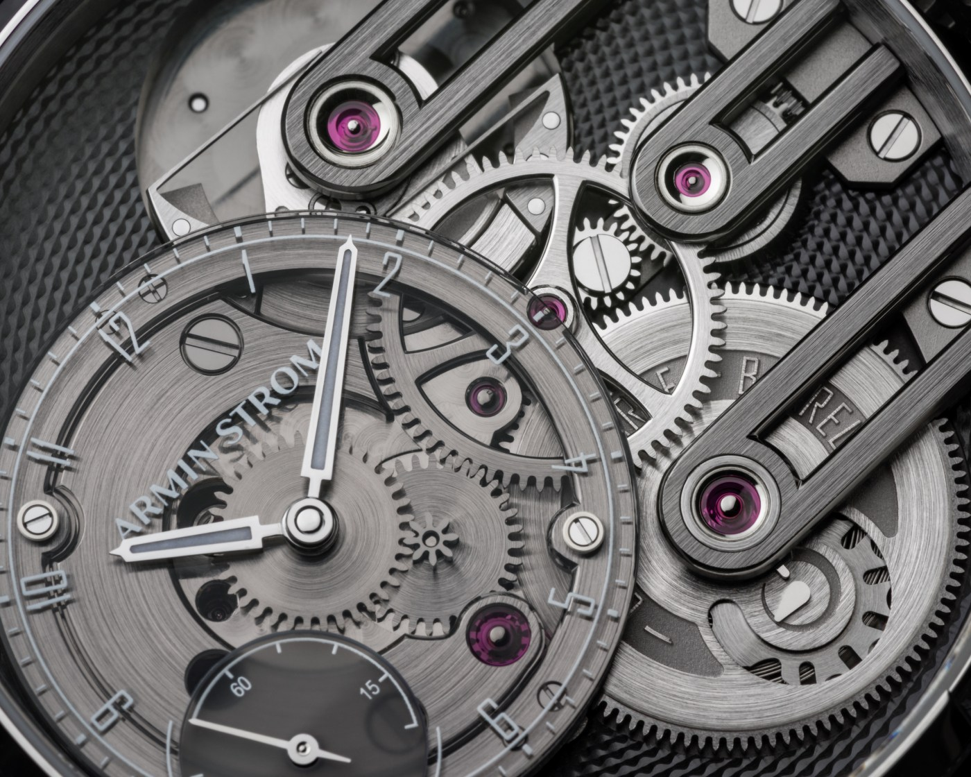 Armin Strom Gravity Equal Force Ultimate Sapphire dial close-up
