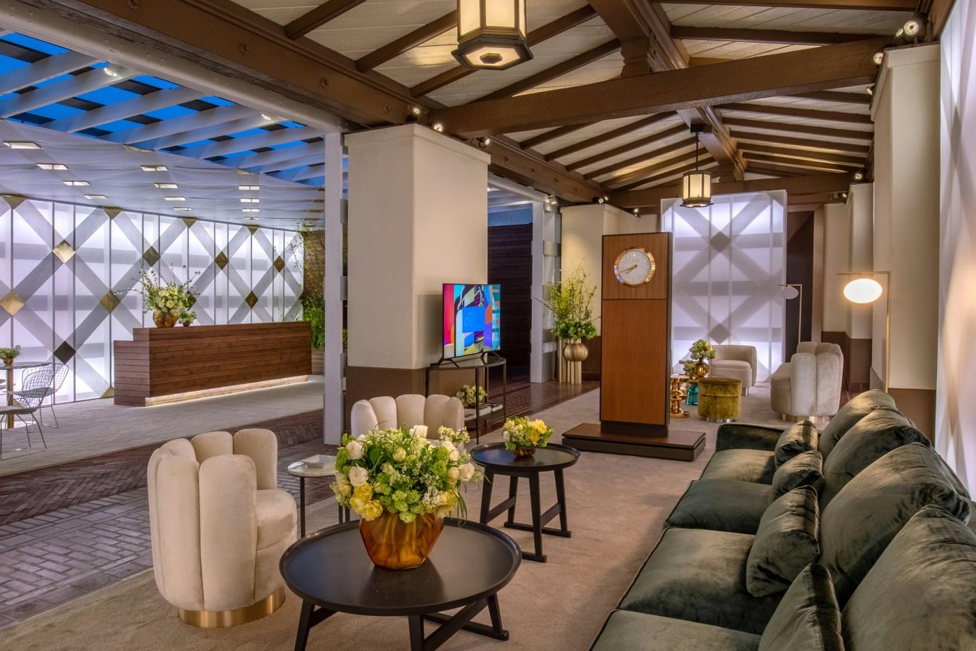2021 Oscars Greenroom designed by Rolex
