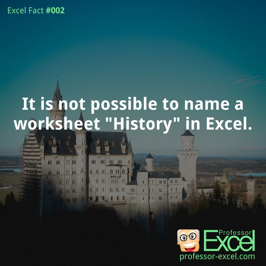 excel, fact, name, history, sheet name, possible