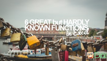 6 Great but Hardly known functions in Excel