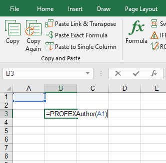 Just type one of the Professor Excel for the author name, date last saved etc. into an Excel cell.