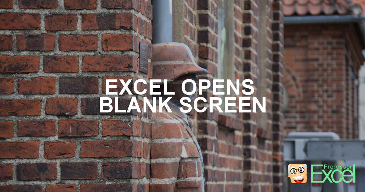 Excel opens blank window when double-clicking on file