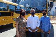Com prefeito de Novo Santo Atônio, Adão Belchior (DEM) e o vereador Luiz