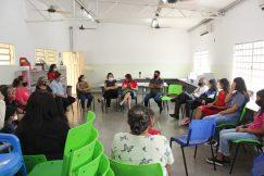 Diálogo com educadores, pais e estudantes na Escola José Leite de Moraes, em Várzea G