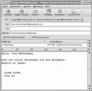 Programa editor de e-mail