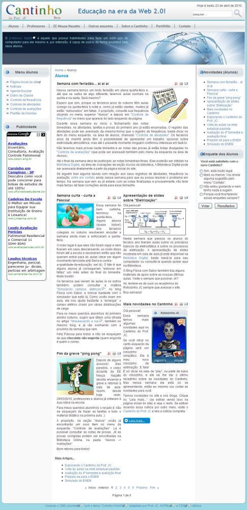 O uso das TICs na gestão pedagógica do processo de ensino e aprendizagem (5/6)