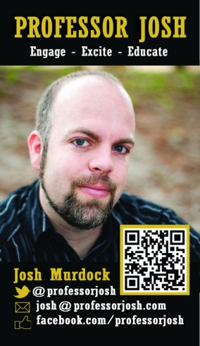 Professor Josh's Business Card