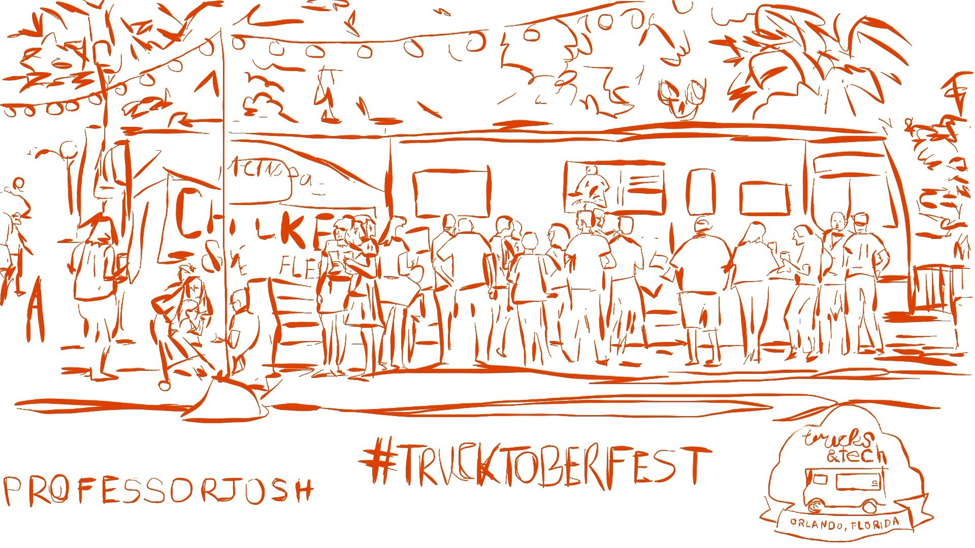 Trucks and Tech II #Trucktoberfest Sketch and Photos