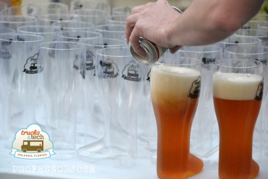 Trucktoberfest Filling the Beer Boots