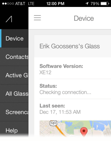 Google Glass MyGlass iOS App