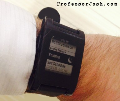 Pebble Watch New Notification Features - Sleep Mode