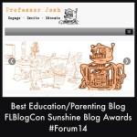 PROFESSORJOSH BEST EDUCATION PARENTING BLOG SUNSHINE BLOG AWARDS