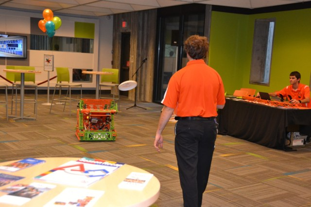 Orlando Library Melrose Center Robots Frisbee
