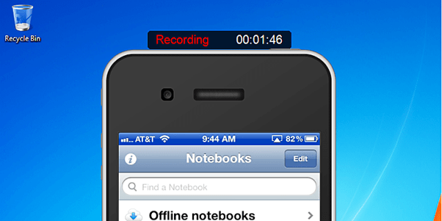 Record iPhone Screen using Reflector