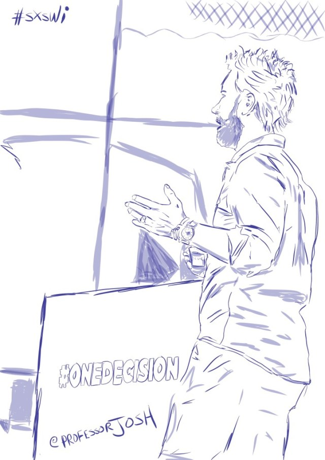 Sketch by Sketch SXSW Interactive TOMS Founder Blake Mycoskie