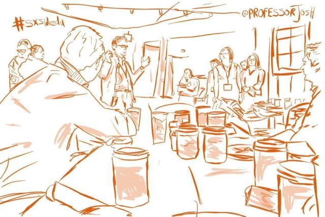 Press Luncheon at SXSWedu Sketch - Educational Adventures in Austin