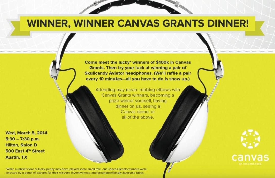 Winner, WInner Canvas Grants Dinner! SXSWedu