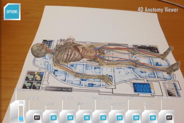 Daqri Anatomy 4D Augmentative Reality Scan