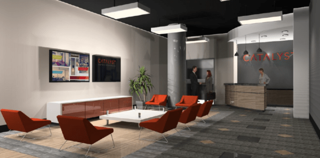 Catalyst's space plan rendering Downtown Orlando Coworking 1