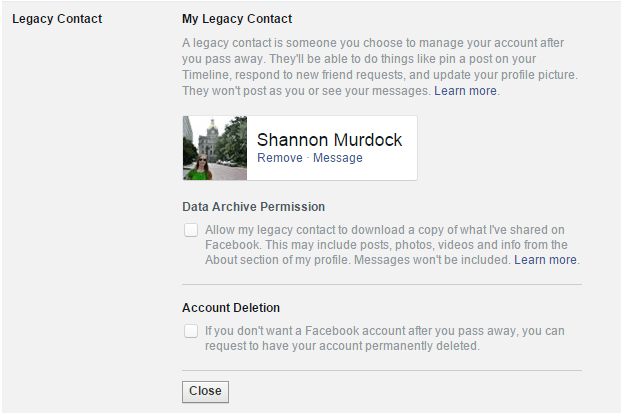 How To Make Sure Your Facebook Survives After Death - Legacy Contact Remove