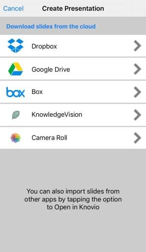 Knovio Mobile Adding Presentations