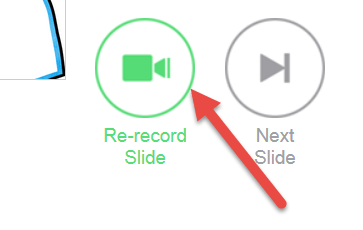 Knovio Re-Record Slides Option