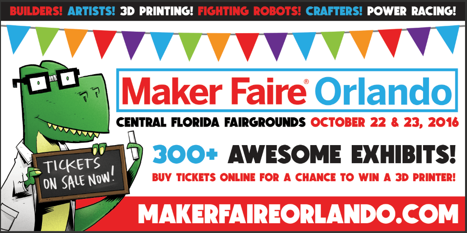 Maker Faire Orlando Returns October 22 and 23