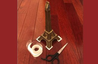 Cut Out of The Eiffel Tower (Tour Eiffel) for Crafty Minds